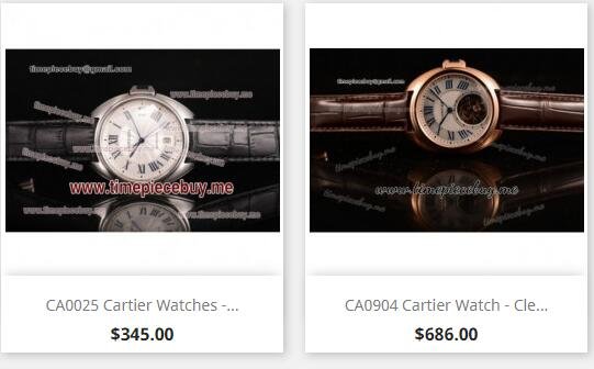 replica cartier cle de cartier watches